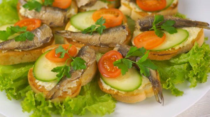 Три вида самых легких и вкусных бутербродов на праздничный стол