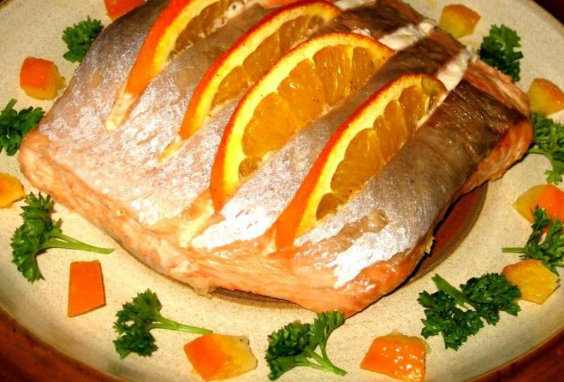 Восхитительная скумбрия, запеченная с апельсинами
