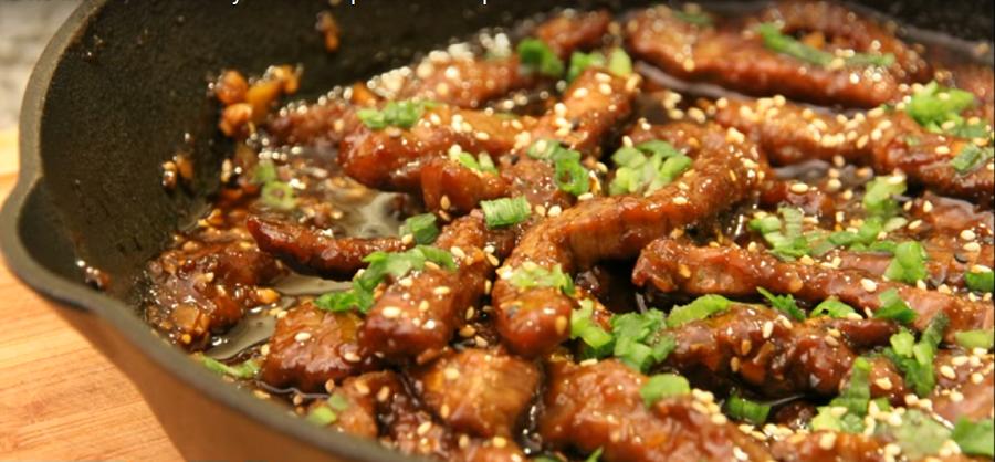 Говядина по-монгольски: вкусно, быстро и просто