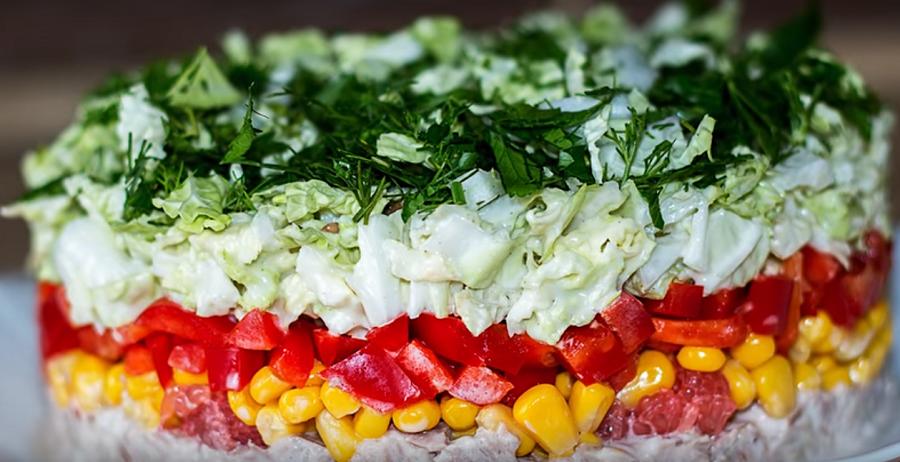 """Праздничный салат """"Ревнивица"""" - готовим к новому году"""