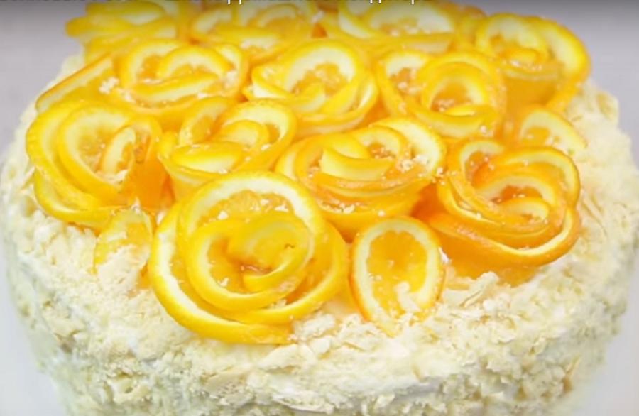 Изумительное украшение для выпечки-апельсиновые розы
