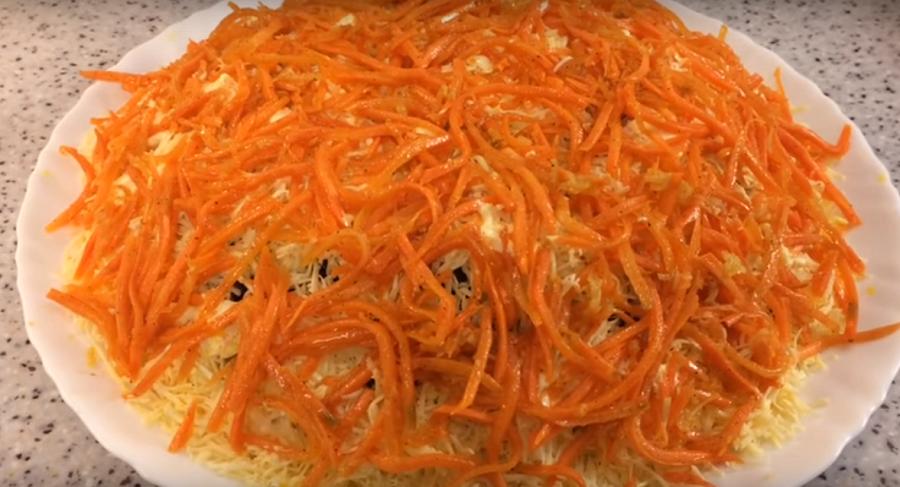 """Праздничный салат """"Морковкин блюз"""". Сметут со стола первым"""