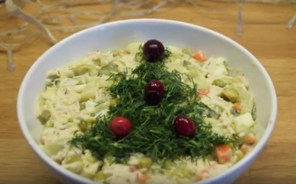 """Диетический салат """"Оливье"""""""
