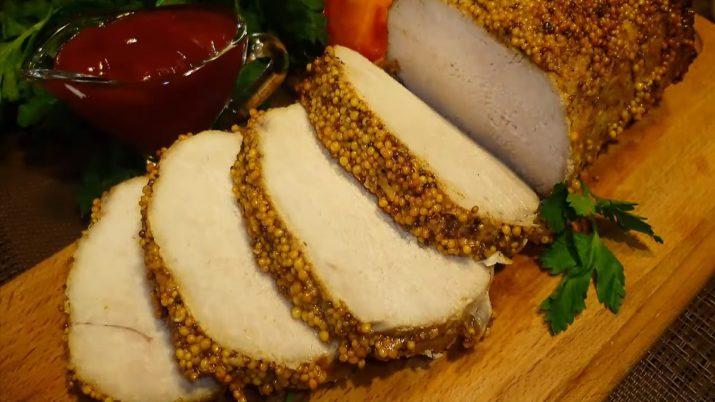 Свинина в горчице, запеченная в духовке