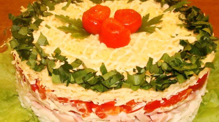 Праздничный пикантный салат «Крутой перец»