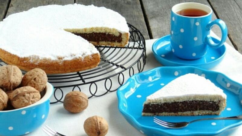 Вкуснейший песочный пирог с шоколадно-ореховой начинкой