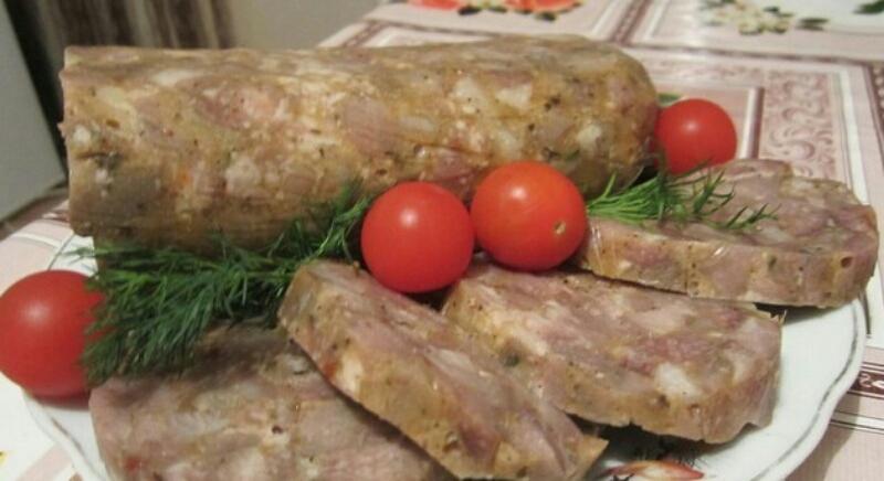 Потрясающая домашняя колбаса-зельц