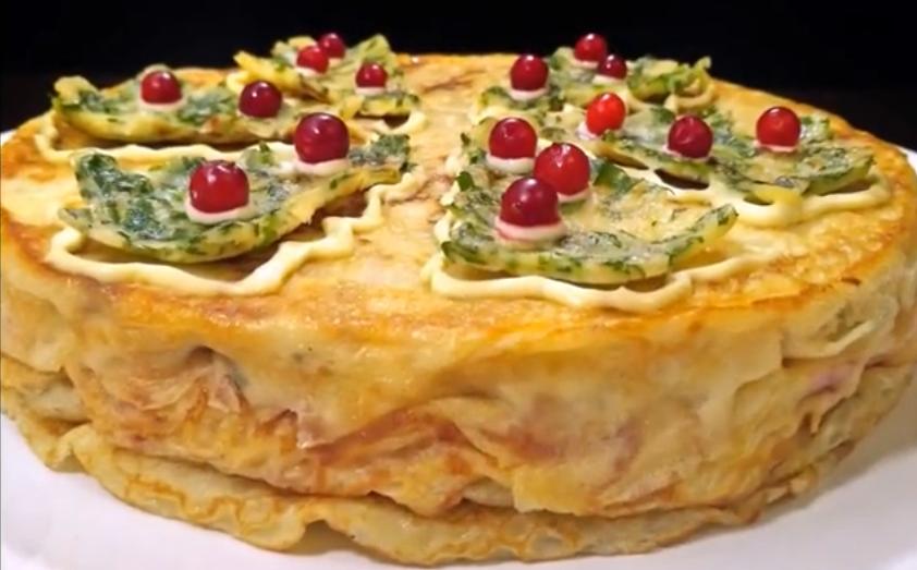 """Потрясающий слоеный пирог """"Новогодняя сказка"""""""