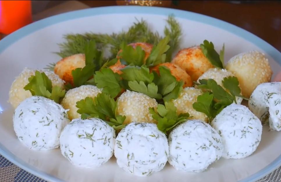 Потрясающие сырные шарики с сюрпризом