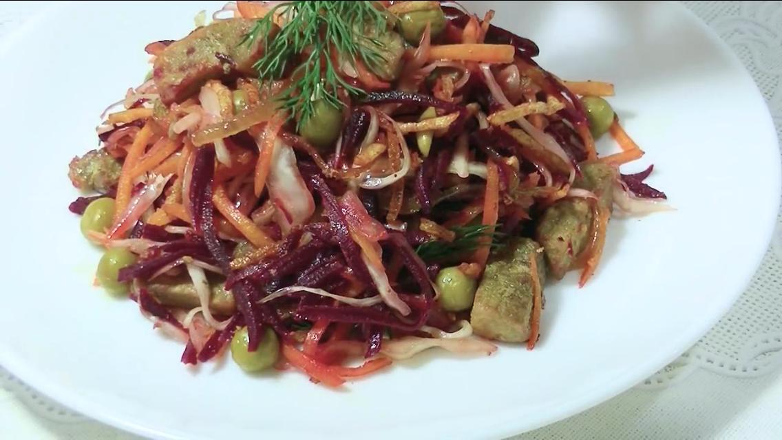 """Потрясающе красивый салат на праздничный стол """"Чафан"""""""