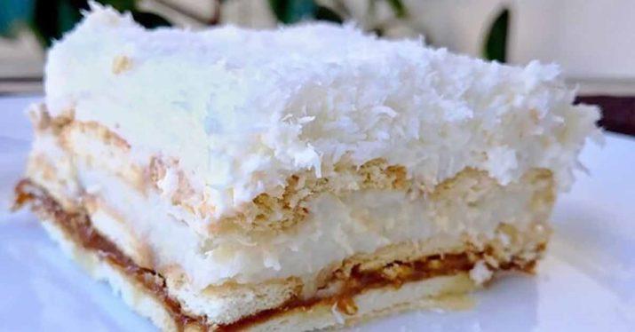 Нежный кокосовый десерт: торт «Рафаэлло» без выпечки