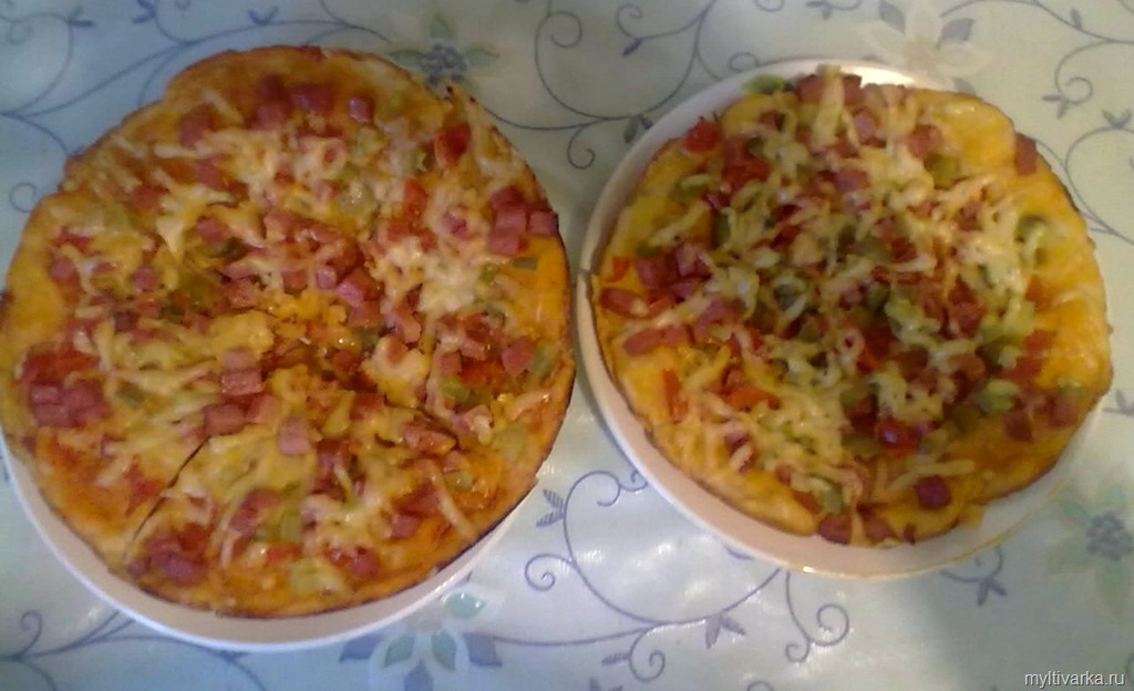 Вкуснейшая домашняя пицца (готовим в мультиварке)