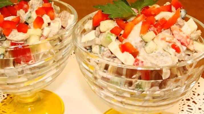 Вкусный салат с куриной печенью: готовим без майонеза