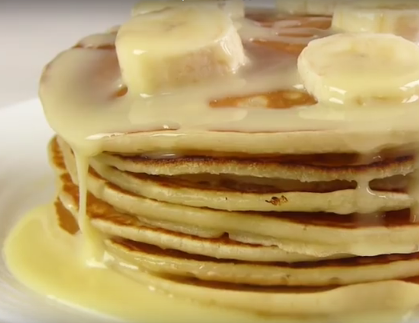 Банановые панкейки. Быстрая идея для завтрака