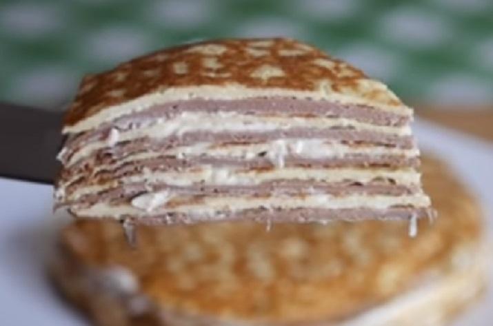 Закусочный торт «Зебра»: когда очень вкусно