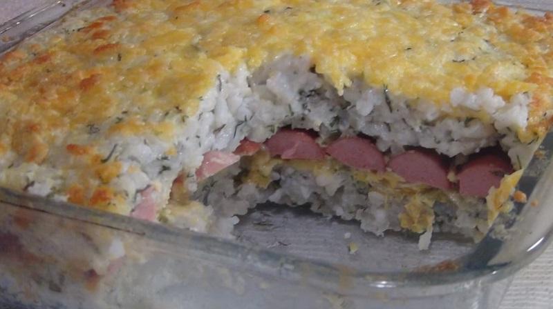 Воздушная рисовая запеканка: очень вкусная и нежная