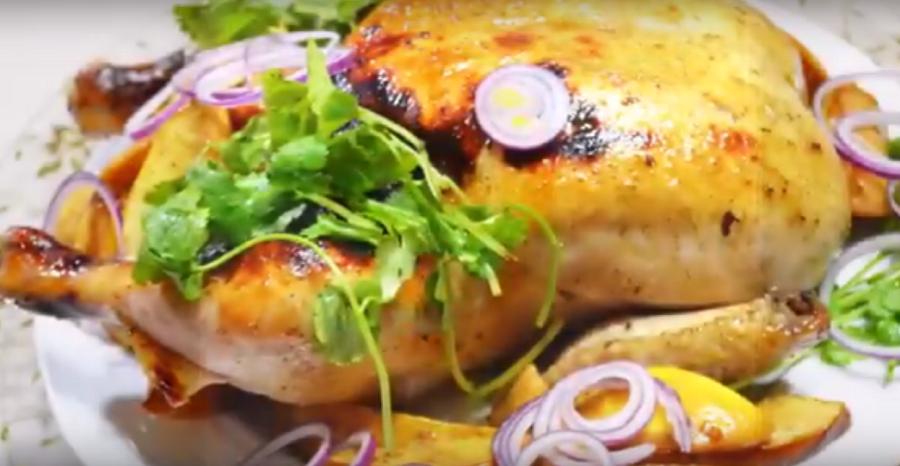 Обалденно вкусная курица в гранатовом маринаде