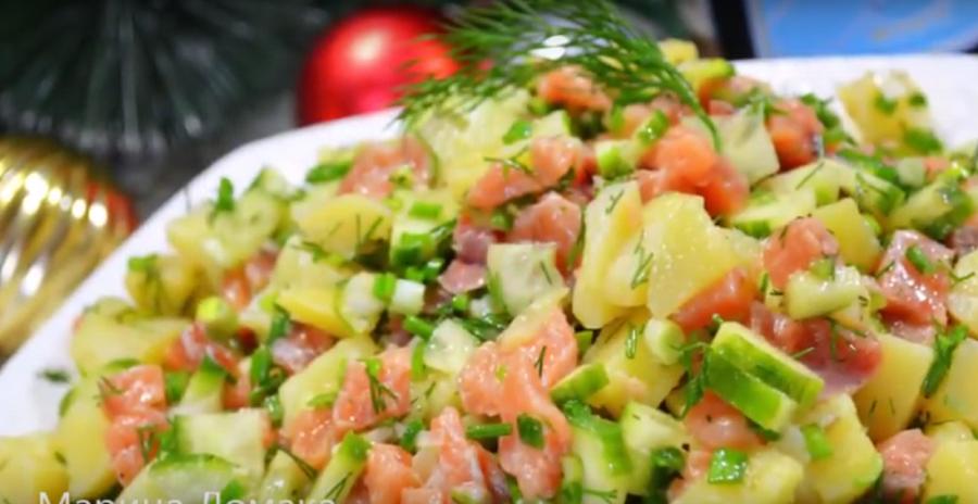 Салат с красной рыбой за 15 минут. Просто и очень вкусно