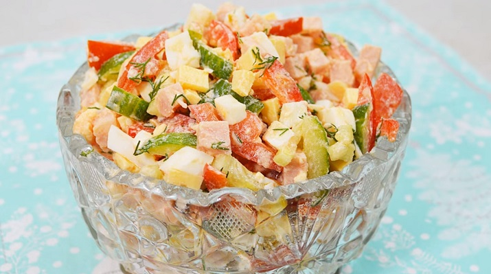 Легкий и вкусный салат «Мария» без майонеза