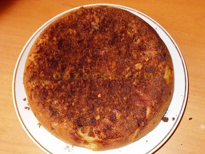 Творожно-яблочный пирог: готовим на сковороде