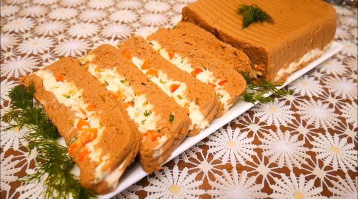 Очень вкусный паштет из печени с сыром