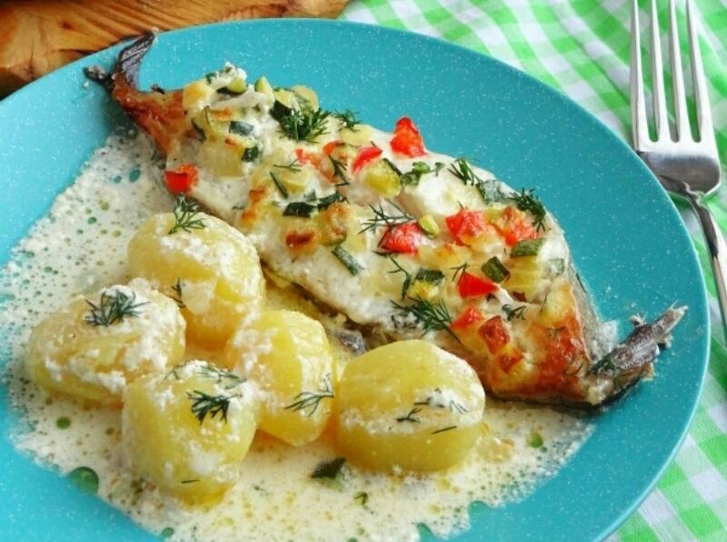 Потрясающе аппетитное блюдо - палтус с картошкой в духовке