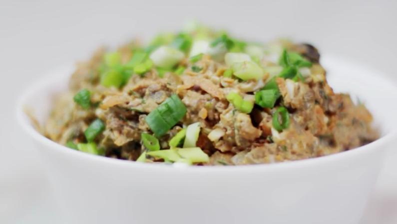 Вкуснейший салат из печени в тарталетках