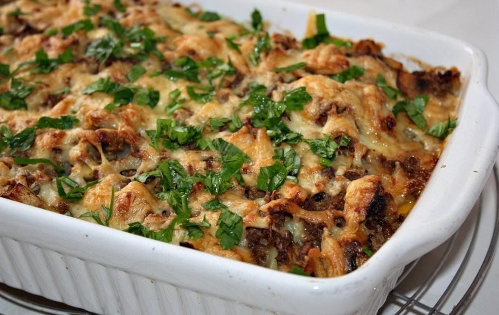 Сочная картофельная запеканка с грибами