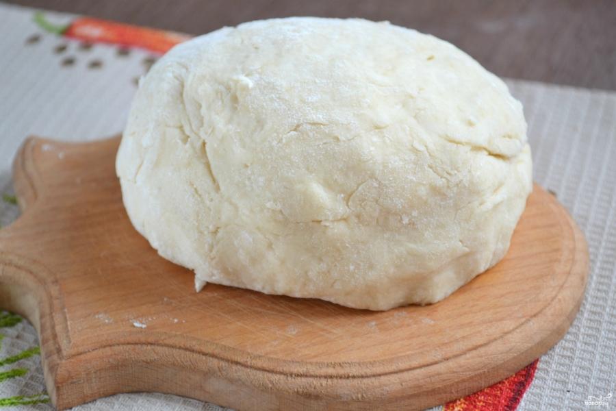 Постное заварное тесто (для вареников и пирожков)