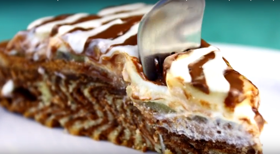 """Нереально вкусный тортик """"Зебра"""" по новому рецепту"""