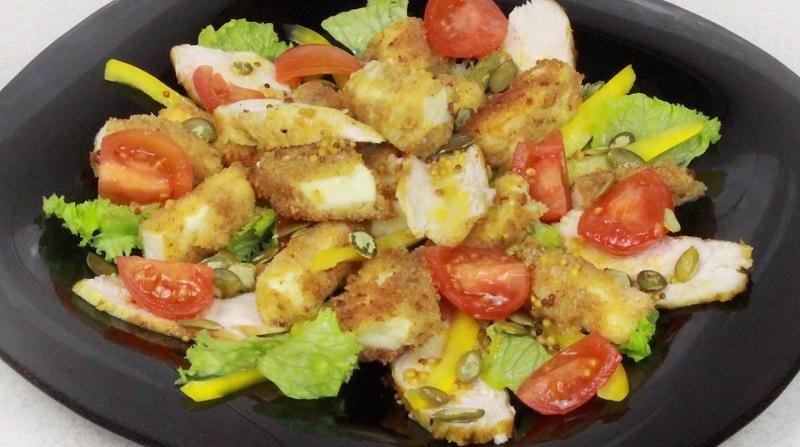 Салат для мужчин «Красавчик»: с курицей и адыгейским сыром