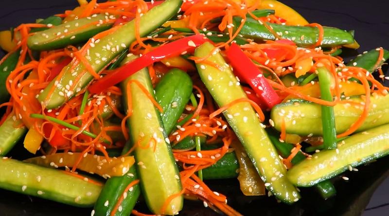 Улетная закуска: салат с огурцами по-корейски