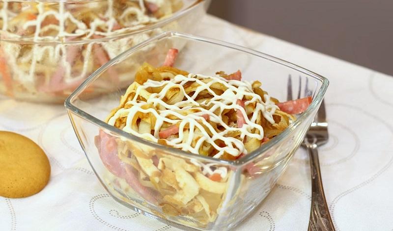 Вкусный салат для любимого «Голодный муж»
