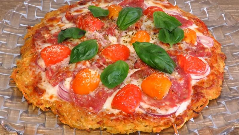 Хрустящая пицца на картофельной основе: очень вкусно и необычно