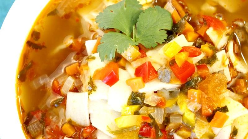 Вкуснейший густой суп с клецками