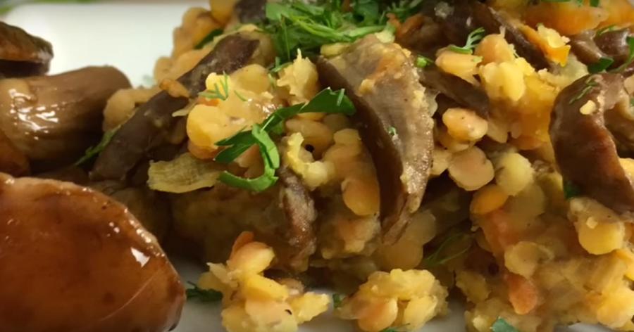 Чечевица с грибами: постное и сытное блюдо к обеду