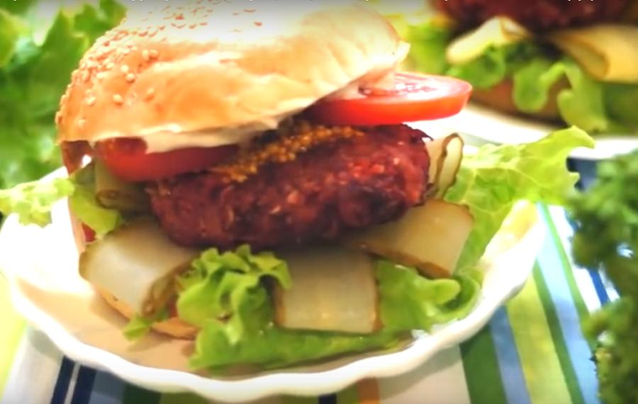 Вегетарианский гамбургер: очень вкусное блюдо
