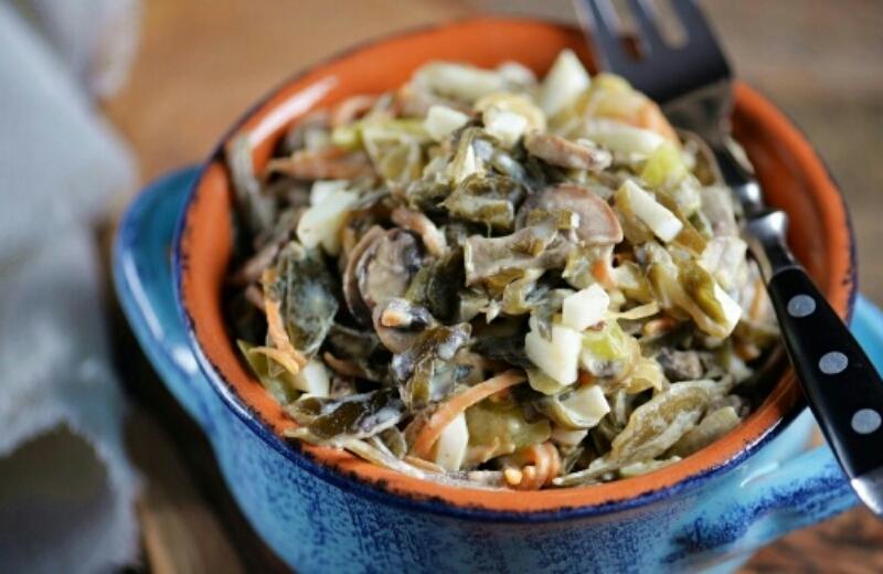Вкуснейший салатик для любителей морской капусты
