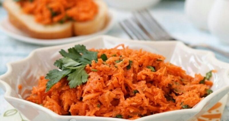 Быстрая закуска из моркови и хрена