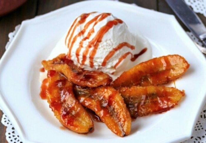 Эффектный и мега вкусный десерт - бананы фламбе