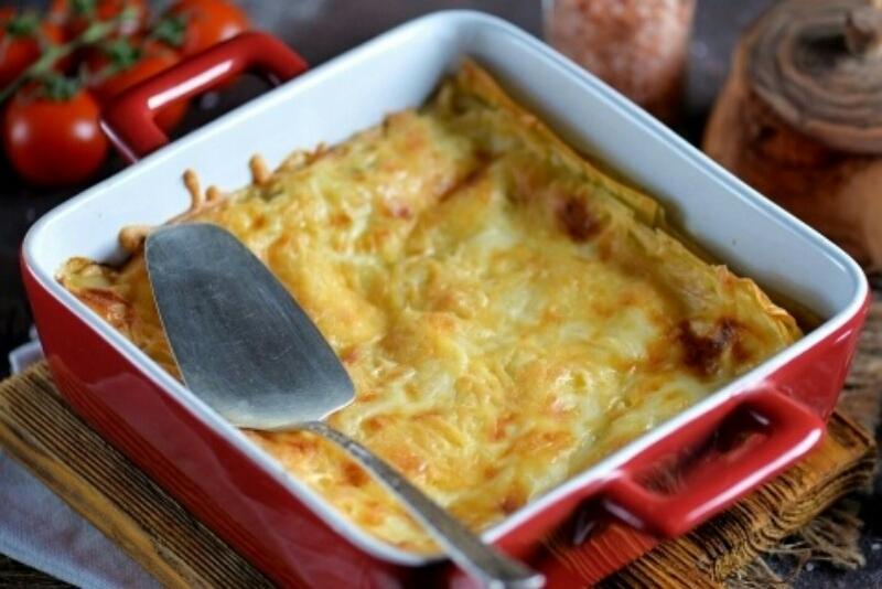 Необычное, но очень аппетитное блюдо: лазанья со шпинатом