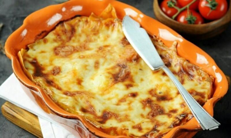 Вкуснейшая лазанья с грибами и сыром