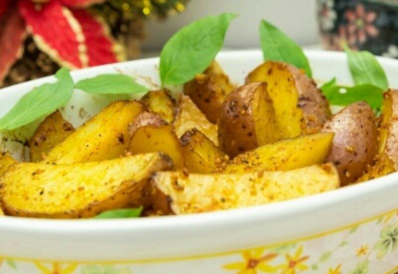 Потрясающе вкусный картофель с лимонной цедрой