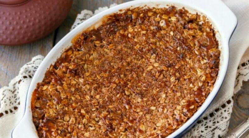 Мега аппетитный десерт - яблочный крисп