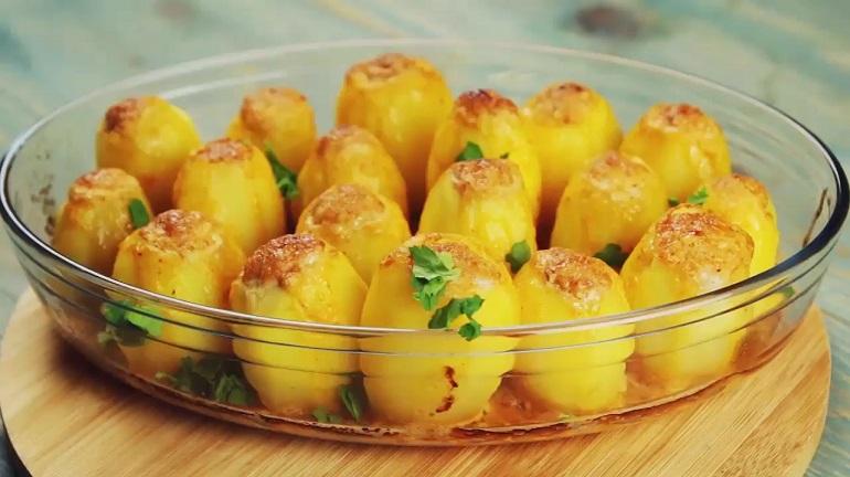Фаршированная картошка с идеальной начинкой
