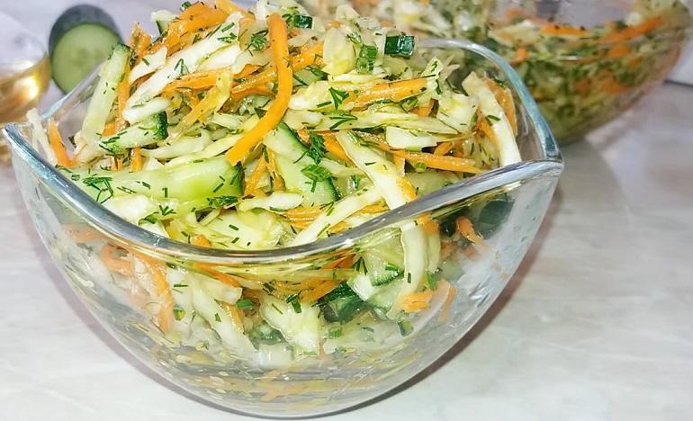 Бюджетный и вкусный салат из капусты