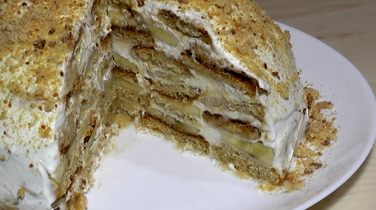 Бесподобный торт из трех ингредиентов: без выпечки