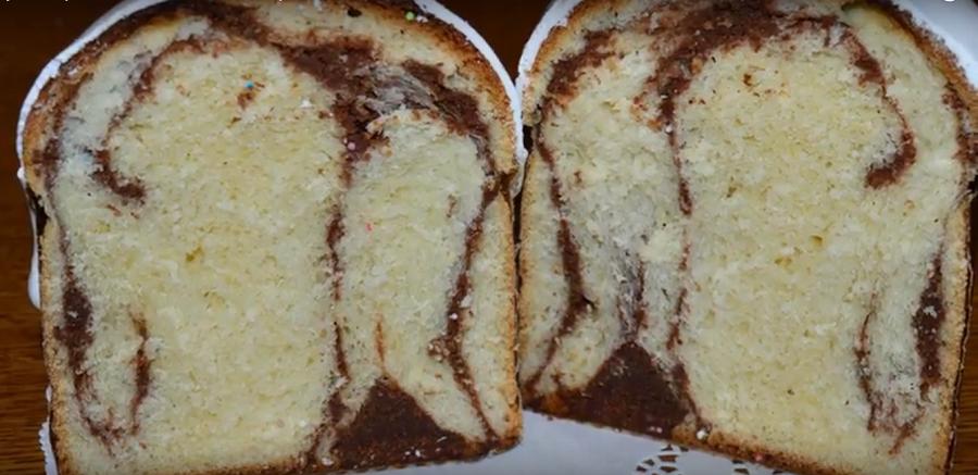 Кулич орехово-шоколадный: ароматный и слоистый