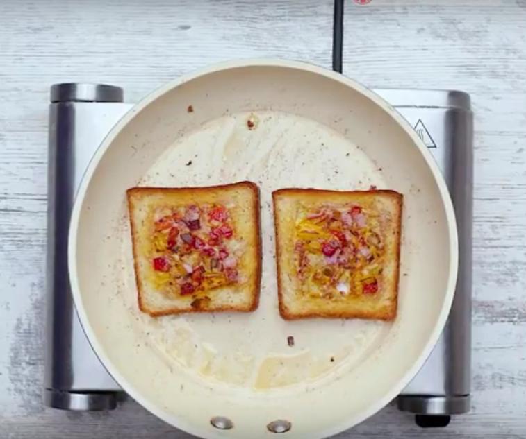 Горячий бутерброд с сыром на сковороде: отличное блюдо к завтраку