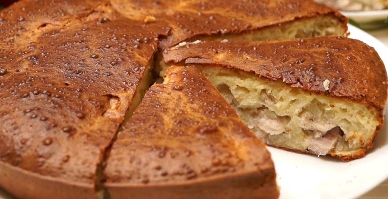 Ленивый заливной пирог к ужину: с очень вкусной начинкой